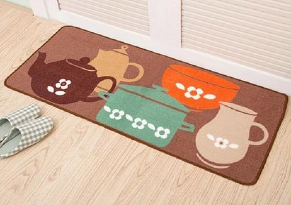 Thảm trải sàn nhà bếp hình ấm chén