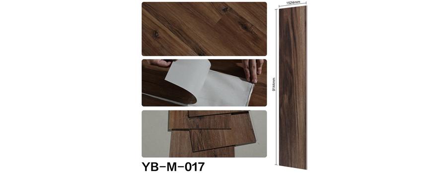 Mẫu sàn nhựa bóc dán vân gỗ 17